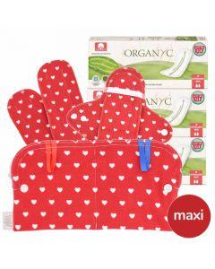 Super Maxi Stoffbinden und Slipeinlagen Set