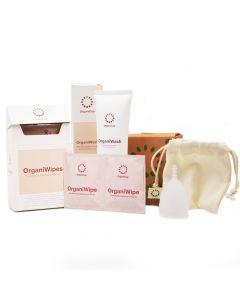 OrganiCup Menstruationstasse und Reinigungs-Set