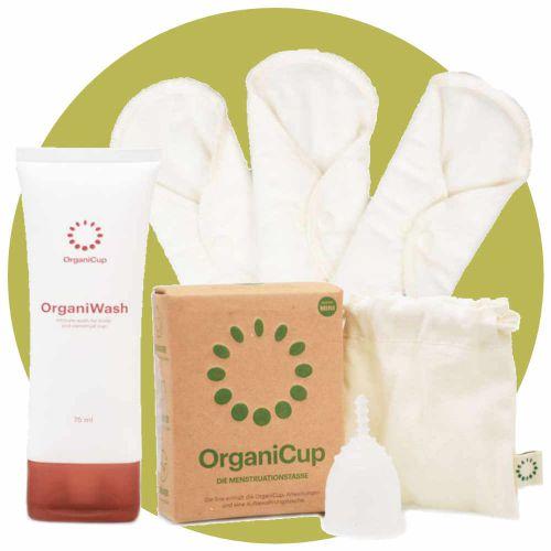Organi Nature Menstruationstasse und Slipeinlagen Set