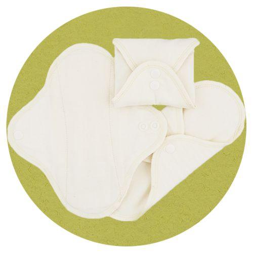 Stoffslipeinlagen natur aus Bio-Baumwolle 3 Stück